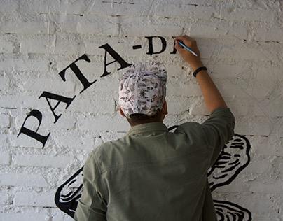 Pata de Palo Mural, rotulación.