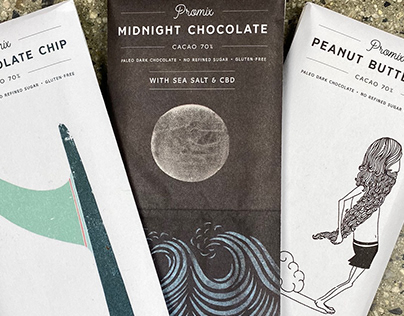 Promix Chocolate Packaging Illustrations