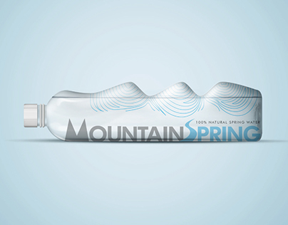 New Bottle Design for Mountain Spring Mineral Water