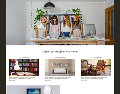 Interior Design Web Concept