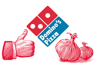 Domino's Pizza Box Illustrations by Steven Noble