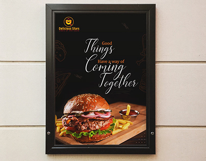 FOOD POSTER (delicious stars restaurant)