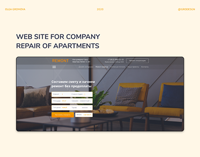 Web site for company repair of apartments