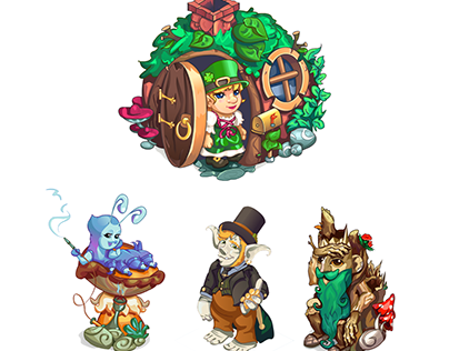 """Characters for """"Magic Island"""" game. Released."""