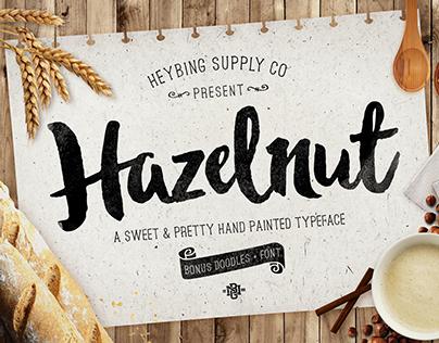 Hazelnut Hand Painted Typeface - Released!