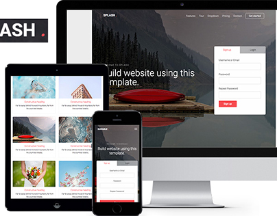 FREE Splash Html5 Template