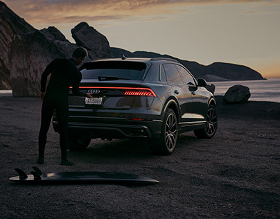 Time for yourself On a morning Surf with an Audi Q8