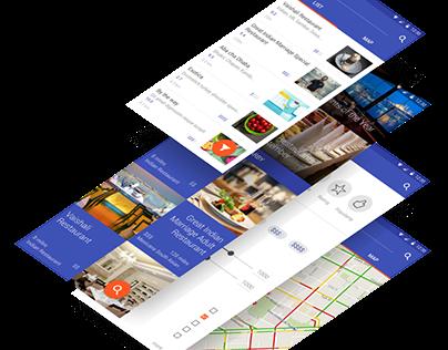 Restaurant Finder - UI Design
