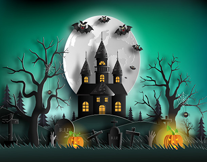 Download Haunted House Halloween Projects Photos Videos Logos Illustrations And Branding On Behance