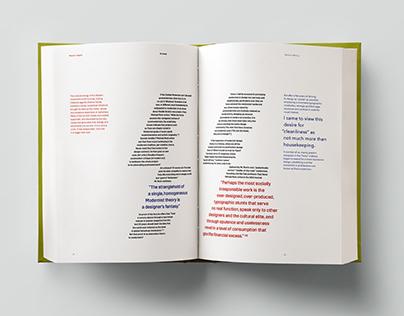 Post/Modernism Book Design
