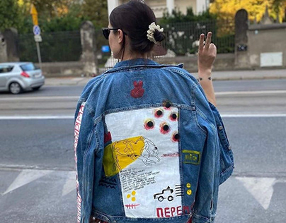 Painted jackets to support Belarusians