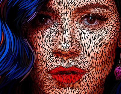 Marina and the Diamonds | Vector portrait