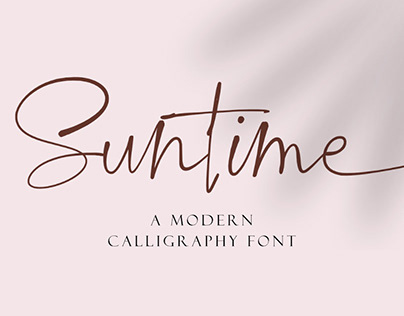 Suntime // A modern Calligraphy Font