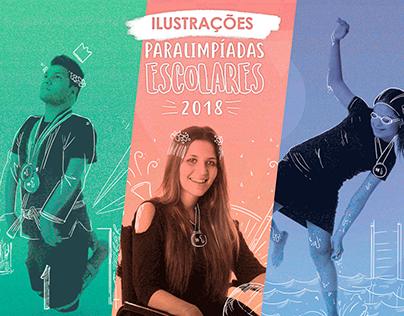 Ilustrações - Paralimpíadas Escolares 2018