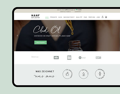 CBD oil Website Design