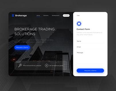 Brokerage — Trading Solution Website