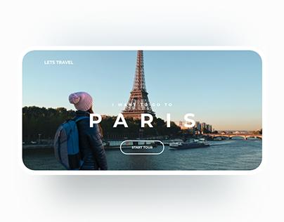 Travel Web UI Concept - Part 1