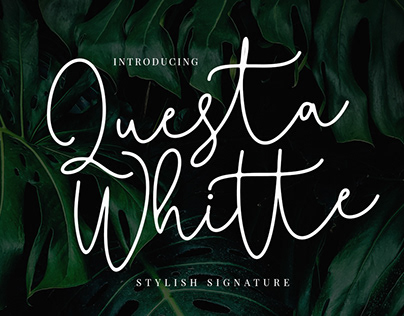 QUESTA WHITTE - FREE HANDWRITING FONT