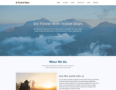 Travel Guys – Responsive HTML Bootstrap Based Template