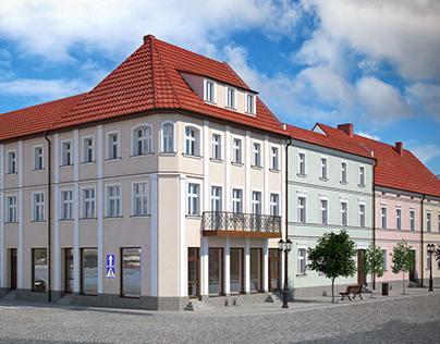 Old town tenement, Poland [FULL CGI]