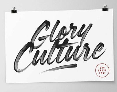 Glory Culture SVG FontbySet Sail Studios