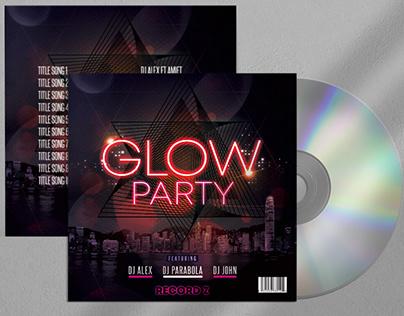 Glow Mix Free Mixtape Album PSD Template