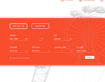 Flight Booking Page