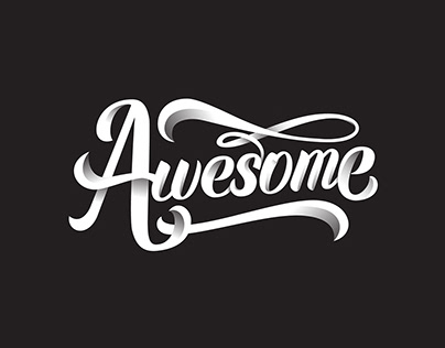Awesome Brush Script Lettering