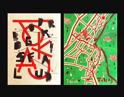 Poster & Map Design / risograph