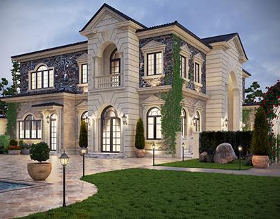 Spectacular suburb mansion