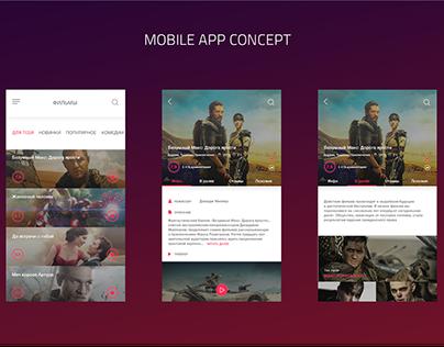 Cinema mobile app - concept