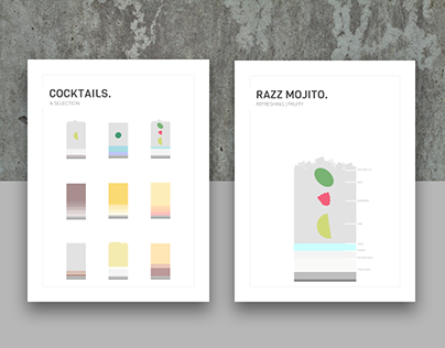 Minimalistic Cocktail Posters - Lodge am Hausberg