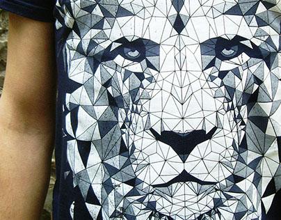 "T-shirt print ""Urban Lion"""