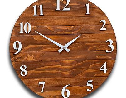 Masif Ahşap Saat Tasarımı
