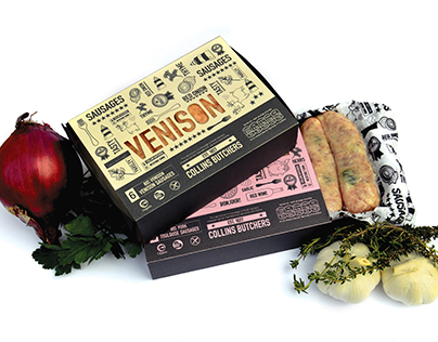 Collin's Butchers Sausage Packaging