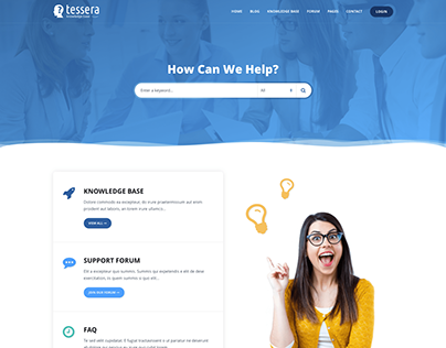 Tessera - Knowledge Base & Support Forum WP Theme