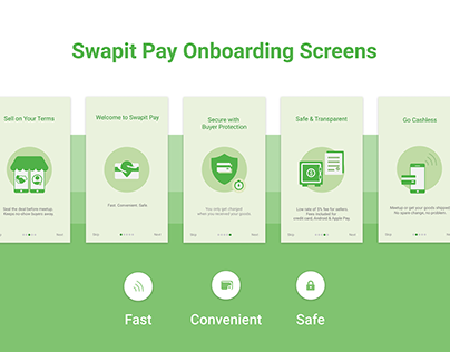 UI / UX for Swapit Pay -Onboarding Screens
