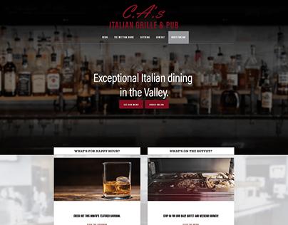 C.A.'s Italian Grille & Pub Website