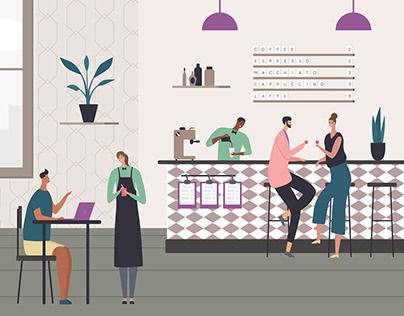 Cafe Illustrations