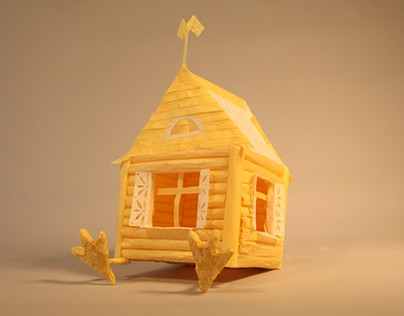 Tracing Paper Project - House on Chicken Legs