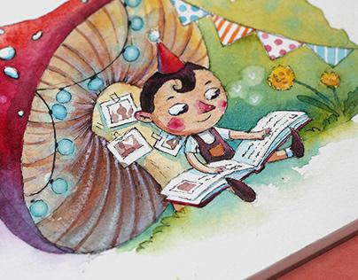 Fairy tales at the mushroom