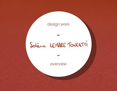 Design Work Overview Solène LEMARE TONEATTI