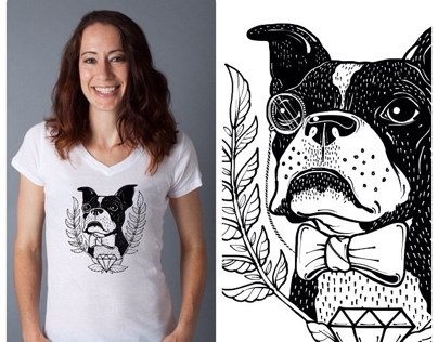 Boston Terrier Rescue Fundraising Shirt Design