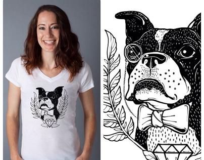 Boston Terrier Rescue Fundraising Shirt Design