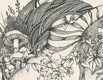 Ilustração para a revista VOLVER