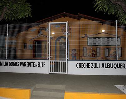 reinauguração da nova Creche Zuli Albuquerque Araújo