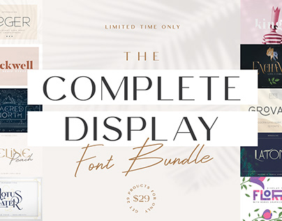 THE COMPLETE DISPLAY FONT BUNDLE