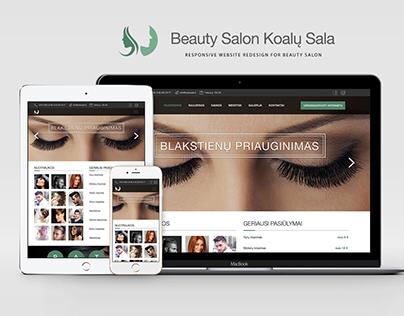 Beauty Salon Website Redesign