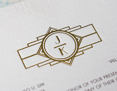 Wedding Invitation: Kristine and John