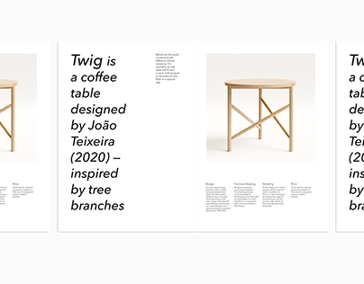 catalog design for furniture collections